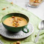 Creamy sweet potato and coconut soup